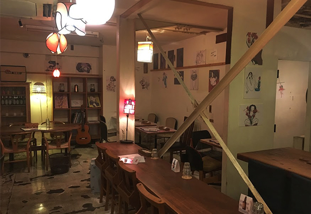 Hiroshi Masuda exhibition Selfie Bio Ojiyan cafe Harajuku illustration