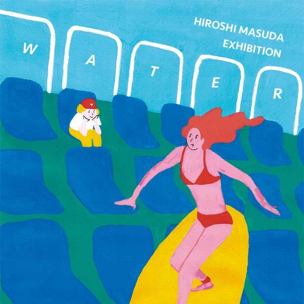 """Exhibition """"WATER"""" Hiroshi Masuda bio ojiyan cafe Harajuku"""